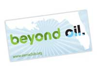 Free Beyond Oil Window Decal from the Sierra Club