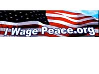 Free Bumper Sticker: 'I Wage Peace'