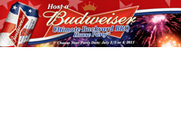 EXPIRED Apply to Host a Budweiser House Party with Great Freebies 21+