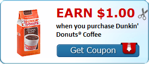 Expired:Dunkin Donuts Coffee Coupon