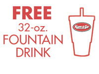 Free 32 oz. Fountain Drink at Kum and Go