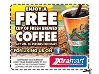 Free Cup of Fresh Brewed Coffee (any size) August 27th
