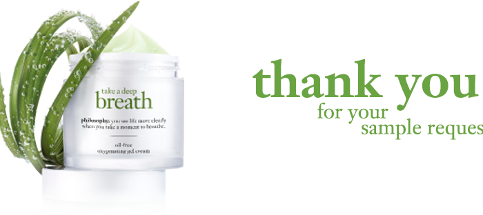 Free Sample of Philosophy Take a Deep Breath Moisturizer