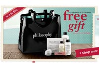 Cyber Monday: Free Philosophy Gift Bag ($90 value) with any $75 Purchase