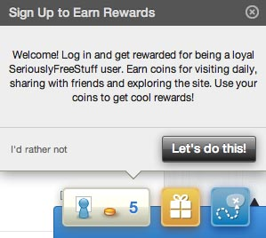 Loyalty Rewards and Giveaways at Seriously Free Stuff