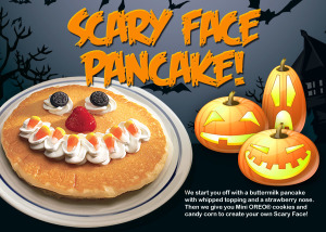 Expired: Free Scary Face Pancake for Kids on Halloween