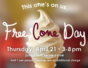Expired: Free Ice Cream Cone at Carvel TODAY!