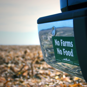 Expired: Free No Farms No Food Sticker