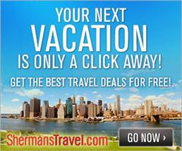 Save Up to 70% from Sherman's Travel