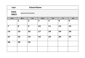 Free Monthly School Calendar