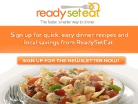 Expired: Free Dinner Recipes and Local Savings from ReadySetEat