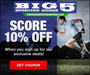10% Off at Big 5