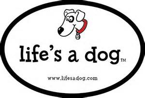 Expired: Free Life's A Dog Bumper Sticker