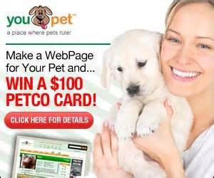 Expired: Win a $100 Gift Card for Your Pet