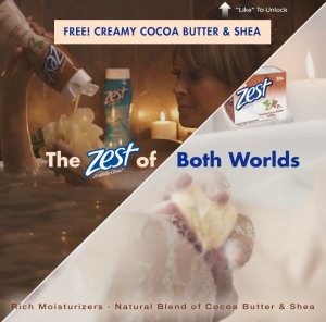 free Zest Cocoa Butter and Shea Body Wash