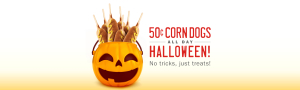 Expired: 50 Cent Corn Dogs at Sonic on Halloween All Day!