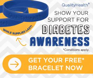 Free Diabetes Awareness Wristband