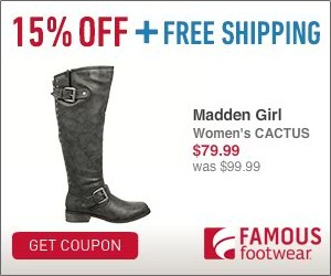 Expired: 15% Off Famous Footwear Coupon