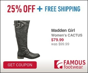 25% off Famous Footwear coupon