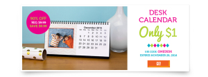 Expired: Customized Desk Calendar for Only $1!