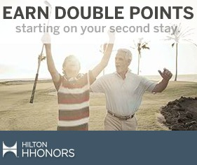 Earn Double Points for free With Hilton Honors