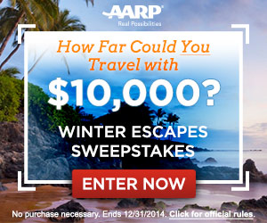 win the AARP Winter Escapes Sweepstakes
