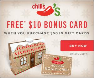 free $10 Chili's gift card