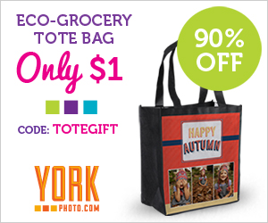 Expired:$1 Customized York Tote Bag