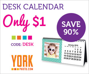 Expired: $1 York Desk Calendar