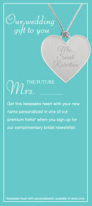 Free Keepsake Heart Necklace from Things Remembered