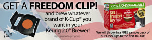 Expired: Free Freedom Clip for your Keurig