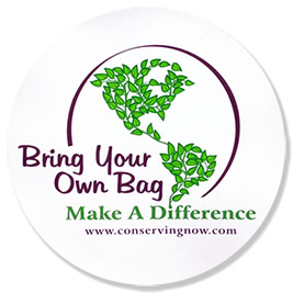 Free Bring Your Own Bag Window Cling