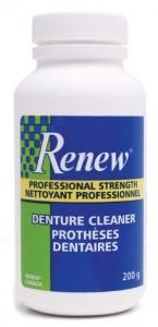 free sample of Renew denture cleaner