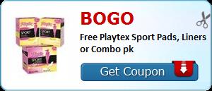 BOGO Playtex Sport Pads