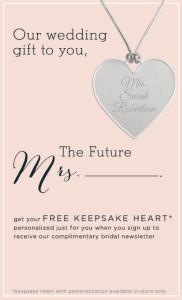 Free Personalized Keepsake Heart