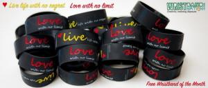 free Live Love Wristband