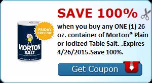 Expired:Freebie Friday! Free Morton Salt