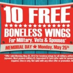 10 free wings at Hooters for military