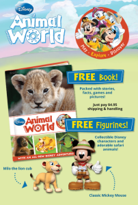 Disney Animal World: Free Book & Disney Characters!
