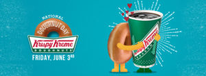 Expired: Free Krispy Kreme Doughnut on National Doughnut Day