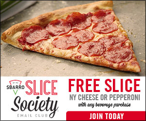 Expired: Free Pizza from Sbarro