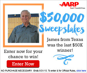 Expired: Win $50,000 from AARP!