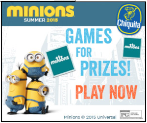 Expired: Win the Chiquita Banana Minions Sweepstakes!
