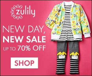 Expired: Free Daily Deals for Moms, Babies & Kids with Zulily