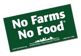 Free No Farms No Food Bumper Sticker