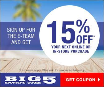 Expired: 15% Off at Big 5