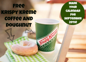 Expired: Free Coffee and Doughnut at Krispy Kreme
