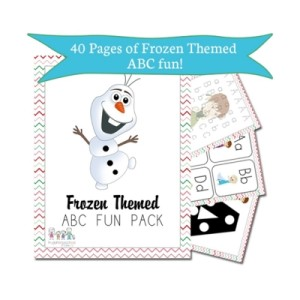 Free Frozen Themed ABC Pack from Educents