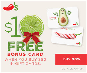 Expired: Free $10 Bonus Card from Chili's