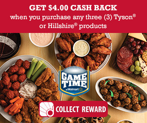 Expired: Tyson Walmart Gameday: Get Cash Back!